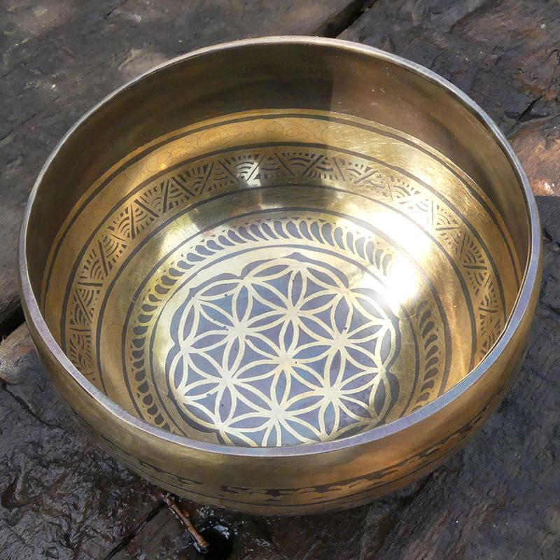 CUENCO TIBETANO GRABADO 17 Ø de cuencos tibetanos 7 metales Full Moon Jambati Nepal Jambati India ESPECIALES GRABADOS ORISSA
