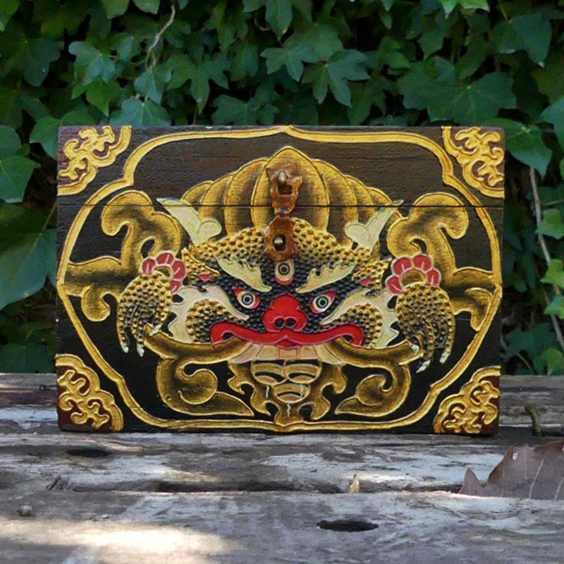 CAJA TIBETANA de artesania CAJAS INDIAS BANJARAS CAJAS NEPAL
