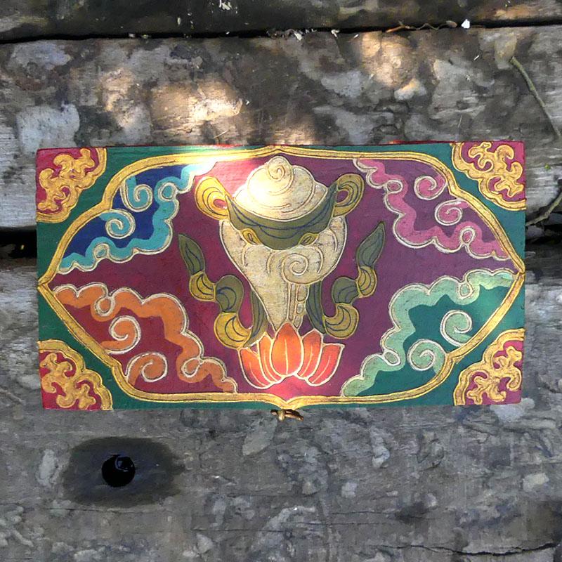 CAJA NEPALÍ de artesania CAJAS INDIAS BANJARAS CAJAS NEPAL
