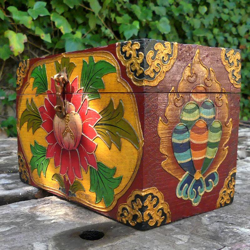 CAJA TÍBET de artesania CAJAS INDIAS BANJARAS CAJAS NEPAL