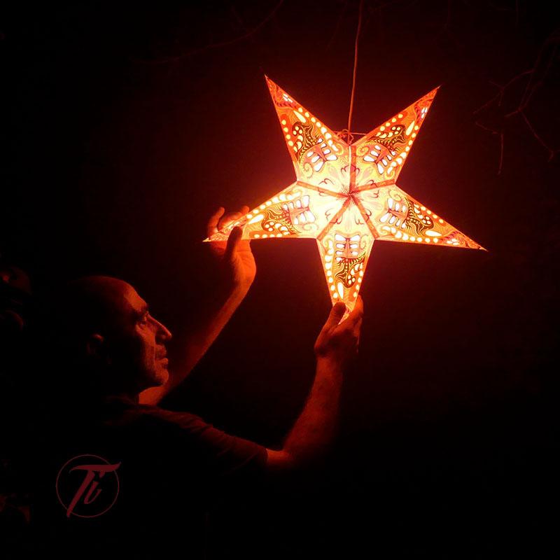 LAMPARA ESTRELLA NARANJA de iluminacion