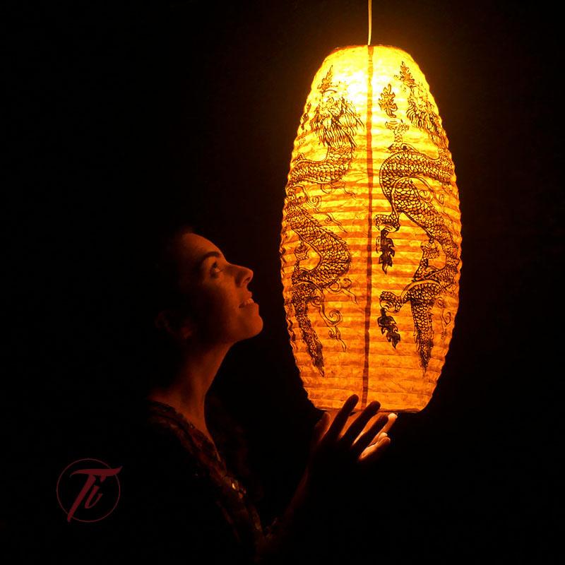 LAMPARA AMARILLA de iluminacion