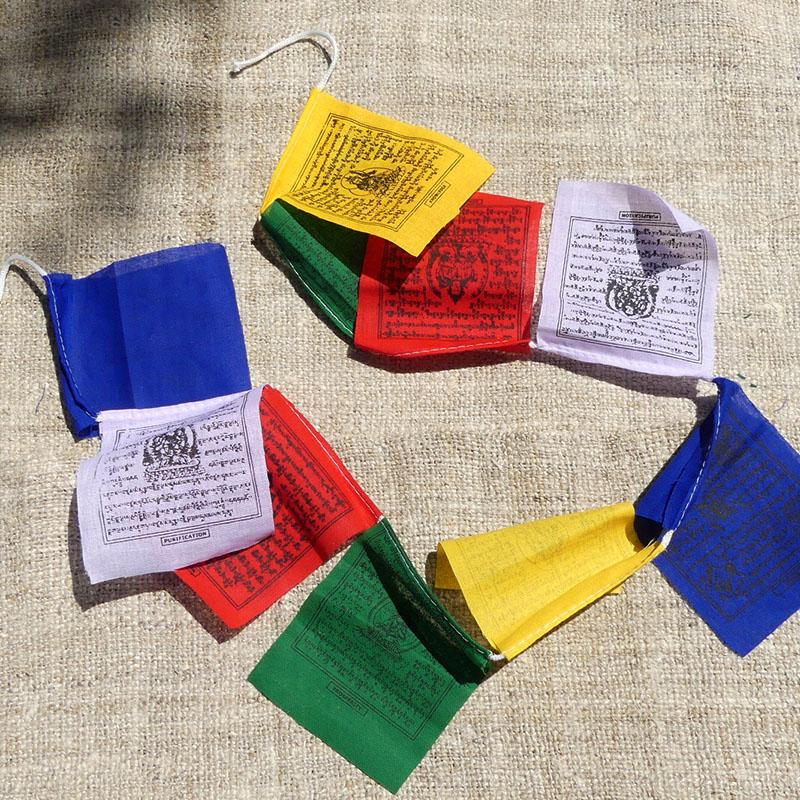 50 Banderas Tibetanas Mini de banderas tibetanas
