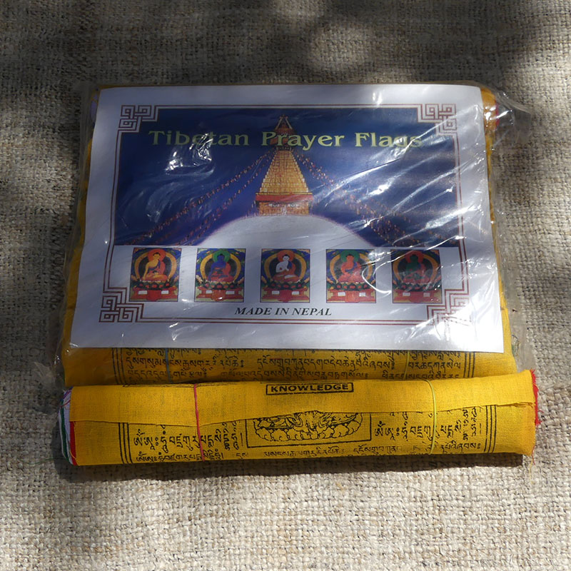 50 Banderas Tibetanas Pequeñas de banderas tibetanas