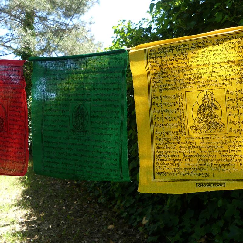 50 Banderas Tibetanas XL de banderas tibetanas