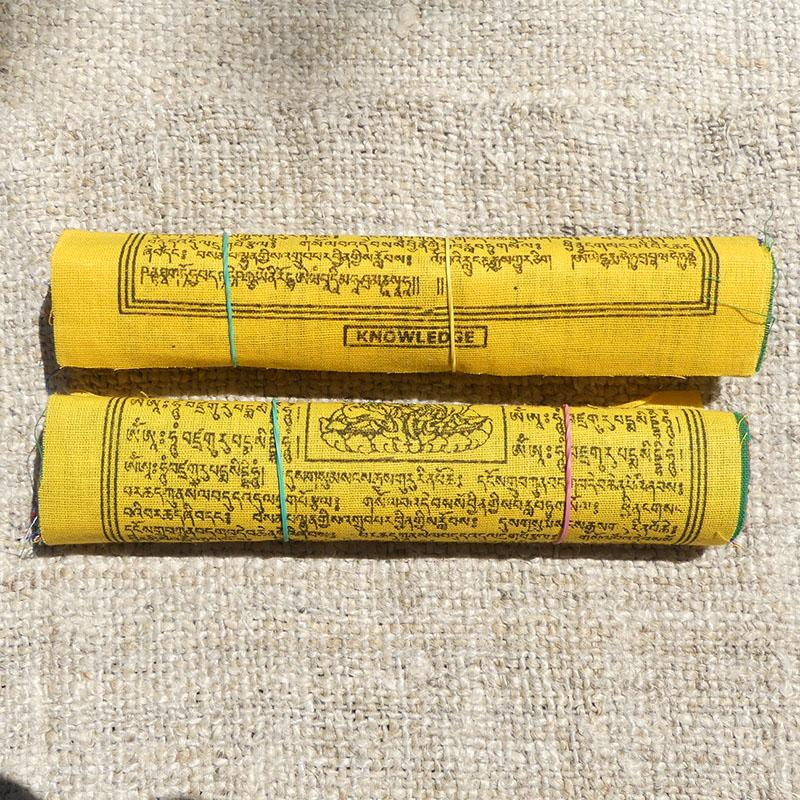 20 Banderas Tibetanas XL 2 Rollos de banderas tibetanas