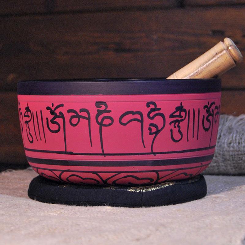 Cuenco Tibetano Rosado 18 cm de cuencos tibetanos 5 METALES 7 METALES GRABADOS ORISSA ESPECIALES THADOS