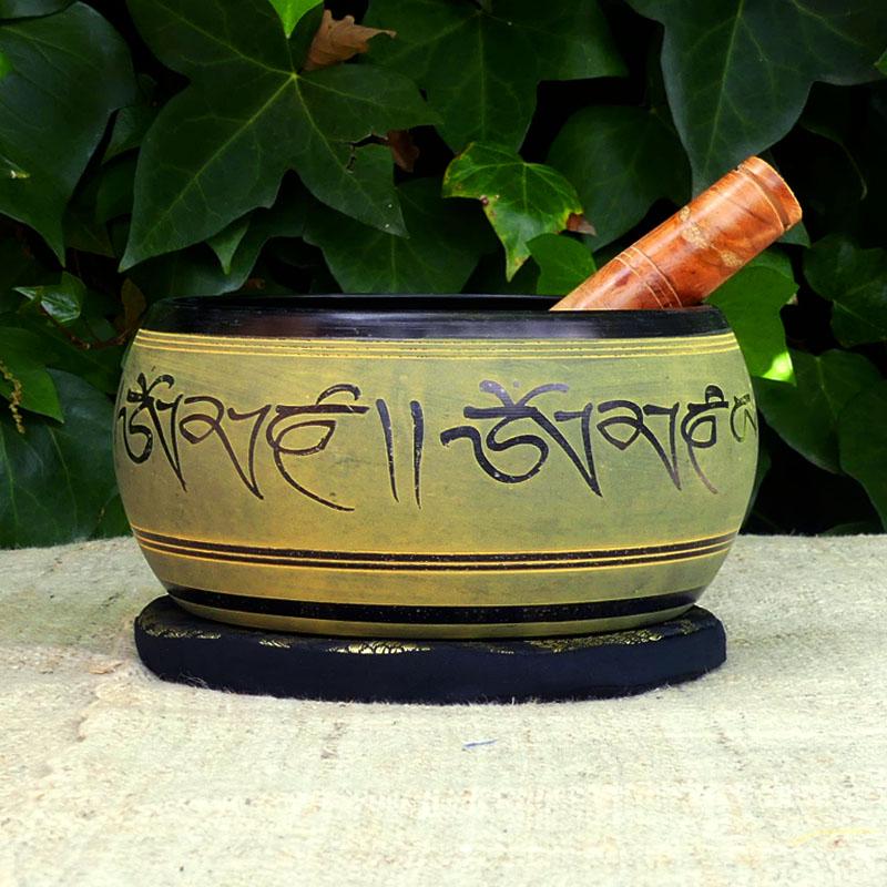 Cuenco Tibetano Verde 800 de cuencos tibetanos 5 METALES 7 METALES GRABADOS ORISSA ESPECIALES THADOS