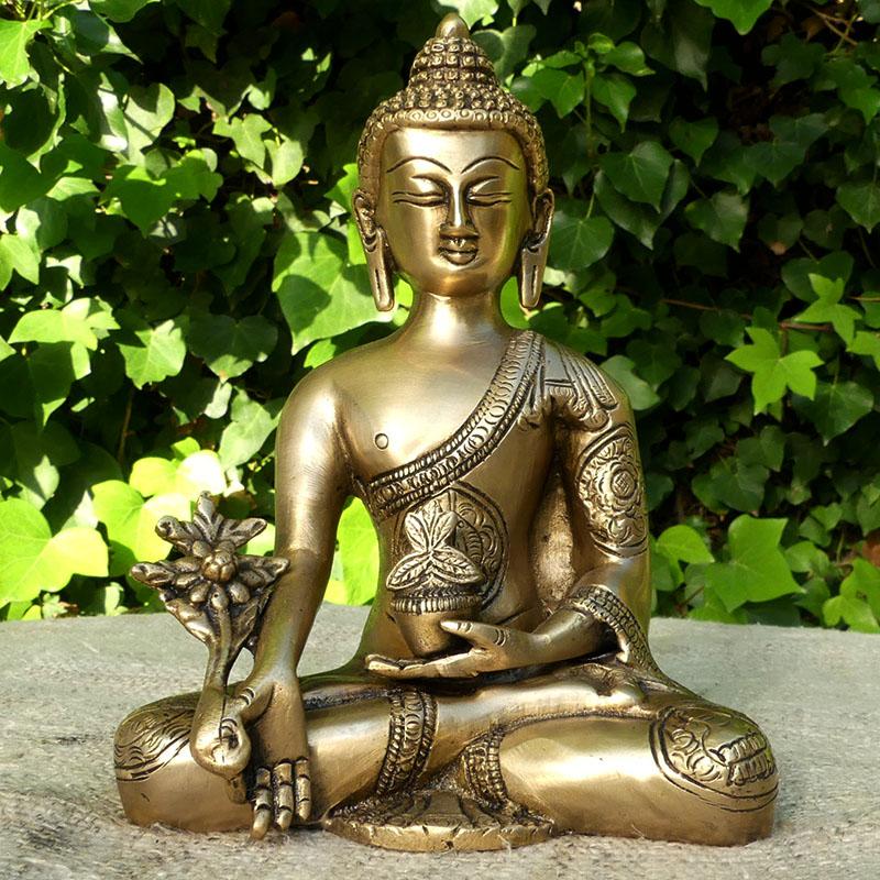 FIGURA BUDA MEDICINA de figuras india BRONCE