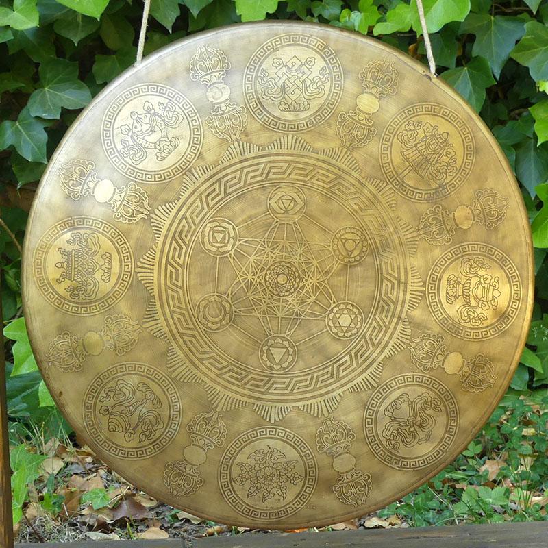 GONG TAM TAM NEPAL D 39,9 de gongs GONGS 7 METALES MARCOS MADERA