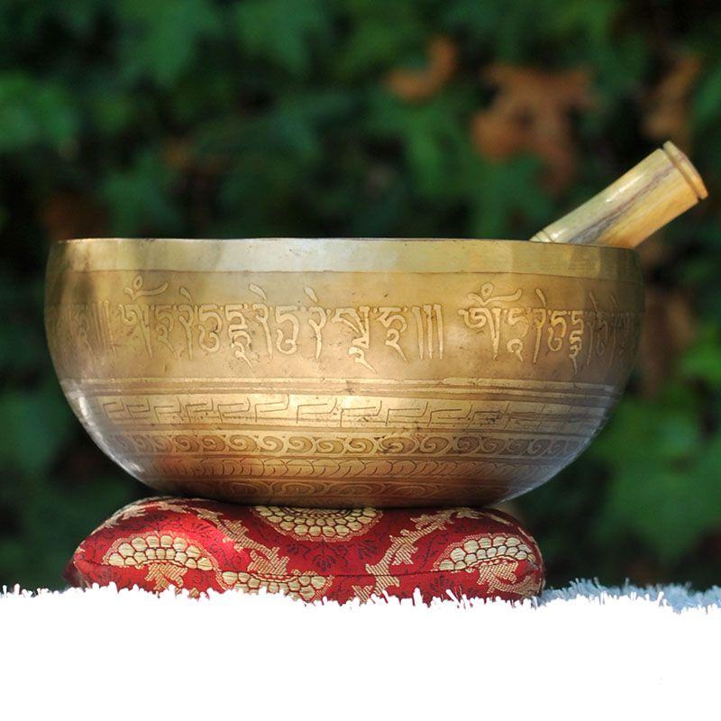 Cuenco Tibetano Grabado 1465
