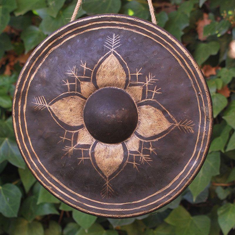 MYANMAR GONG de gongs GONGS 7 METALES MARCOS MADERA