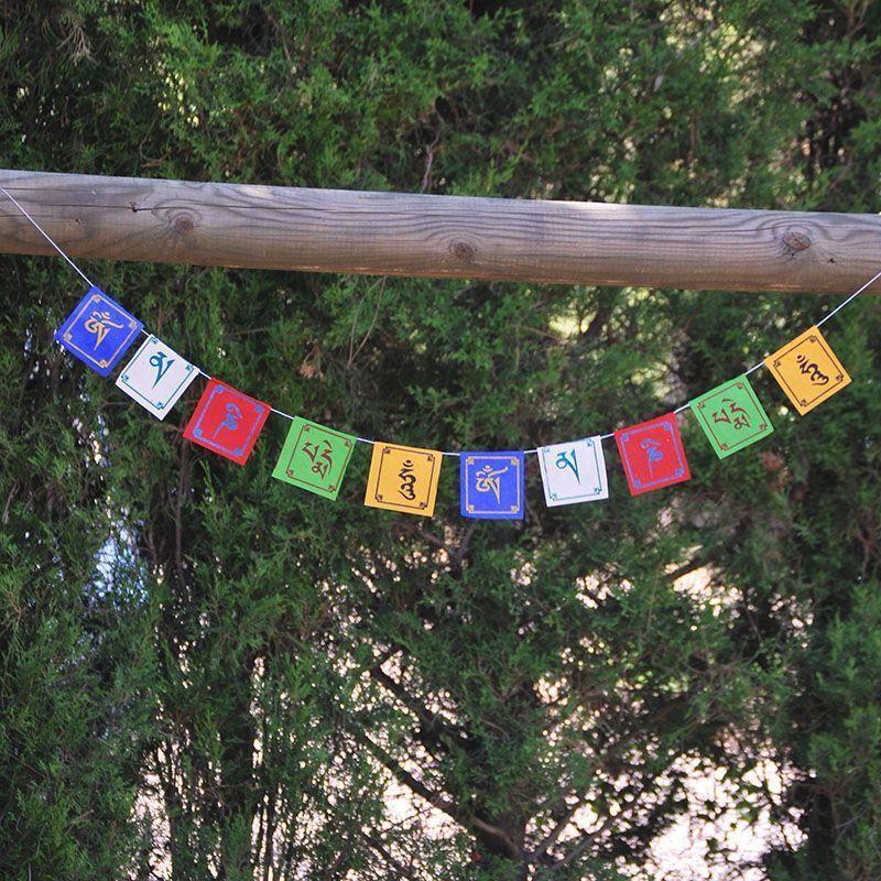 25 Banderas Tibetanas Lokta Mini  de banderas tibetanas