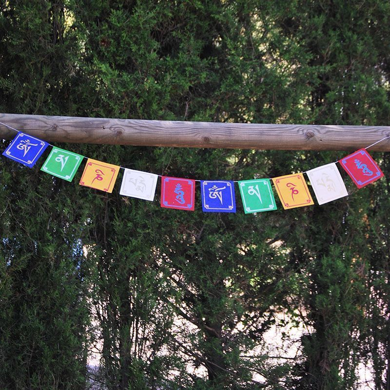10 Banderas Tibetanas Lokta de banderas tibetanas
