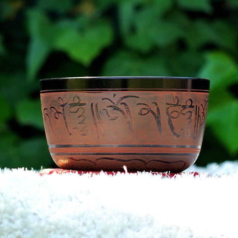 Cuenco Tibetano Rojizo 16 cm de cuencos tibetanos 5 METALES 7 METALES GRABADOS ORISSA ESPECIALES THADOS